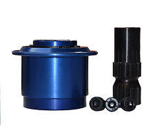 Quick Release Hub Splined Steering HIGH QUALITY Single Hand Operation Type Blue