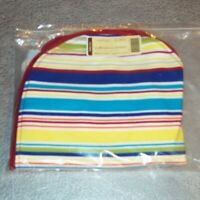 Longaberger Sunny Day Stripe LARGE BOARDWALK Zipper Basket Liner ~ Brand New!