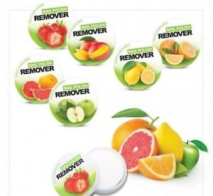 Nail Polish Remover Wipes Tub of 32 Pads / Wipes Fruit Scent - Varnish Remover