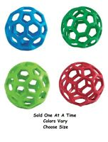 Dog Toy Hol-ee Roller Rubber Ball Toys for Dogs Tough Insert Treats Choose Size