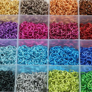 500PCS 6mm Aluminum ring Open Single Loops Jump Rings Jewelry many color