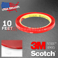 Genuine 3M VHB #4905 Clear Double-Sided Tape Mounting Automotive 8mm x 10FT