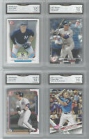 2017 AARON JUDGE 4 CARD ROOKIE LOT BOWMAN & TOPPS GMA GEM MINT 10 YANKEES ROY
