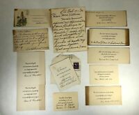 Vintage 1930s and 40s Thank You Notes for Sympathy Condolences Lot of 12 Used