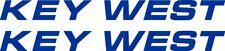 "36"" Custom KEY WEST Logo Boat Decal Sticker - Pair - L@@K"