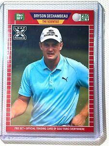 BRYSON DECHAMBEAU 2021 Leaf Rookie Pro Set SCIENTIST Variation SP RC Golf Card