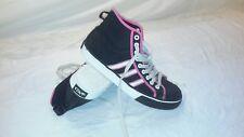 WOMENS ADIDAS NZA High Top BLACK PINK WHITE LACED ATHLETIC SHOES 607721  Size 8