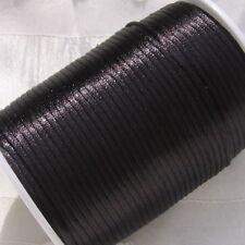 10 mères = 100cm corde fil polyester 2mm noir pour bijou shamballa *C213