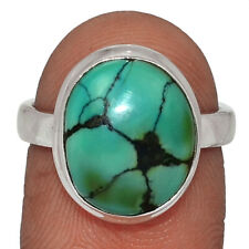 Natural Tibetan Turquoise 925 Sterling Silver Ring Jewelry s.6.5 AR139645