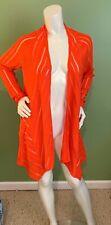 209wst38 Orange Long Sleeved Sheer Cardigan -Sz Small - NWT