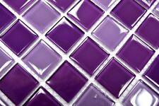 Mosaïque carreau translucide violet cuisine toilette bain 62-1104_b | 1 plaque