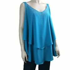 Autograph Polyester Machine Washable Plus Size Tops & Blouses for Women