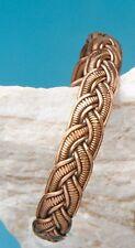 Dekorativer Kupferarmreif, Armreif, Kupfer, geflochten, 12 mm breit, offen