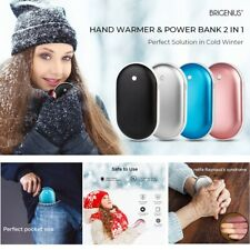 Pocket Hand Warmers Rechargeable Electric Heater Power Bank USB Charger 5200mAh