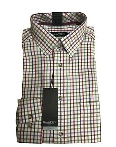 100% BRUSHED COTTON BERRY CHECK WARM HANDLE COUNTRY HUNTING SHIRT BY DOUBLE TWO