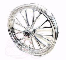 Polished Manhattan 21 3.5 Billet Front Wheel Rim Harley Touring Bagger Dual Disc