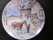 Knowles Nature's Child 1990 Trusted Companion Girl & Pony Ducks Ltd Ed Plate