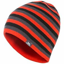 Trespass Coaker Mens Striped Beanie Hat Casual Winter Knitted Plain Cap