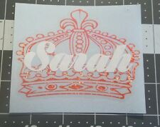 Crown and name for Yeti, Rtic cup, etc. Sticker Decal HOLOGRAPHIC