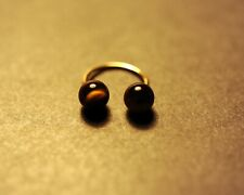 body piercing 14K.gold-tiger eyes