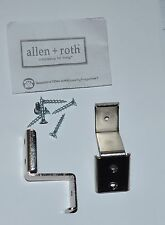 20 Allen Roth Ventilated Shelf CORNER Brackets Nickel 0060596 WSVSCB Lot Of