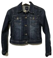 Gap Kids Youth Blue Denim Jean Trucker Jacket Snap Front Girls Large 10-11 yr