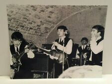 B&W Semigloss Pic of The Beatles at The Cavern Club w/Ringo on drums 62' or 63'!