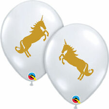 """10 pc 11"""" Magical Gold Unicorn Latex Balloons Party Decorations Happy Birthday"""