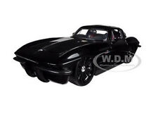 1963 CHEVROLET CORVETTE STINGRAY BLACK 1/24 DIECAST CAR MODEL BY JADA 96808
