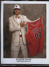 Joakim Noah Chicago Bulls Autographed Photo B & E Hologram