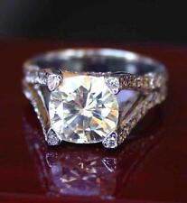 Ghi Micro Pave Engagement Ring 6.15 Ct Moissanite Cushion Forever One