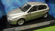 ALFA ROMEO  147 gris argent silver échelle 1/18 de RICKO 32111 voiture miniature