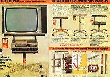 PUBLICITE ADVERTISING 024   1981   ERARD  Supports pour téléviseurs & magné (2 p