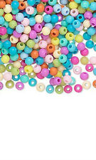 Huge Lot of 3500 Assorted Color Opaque Plastic Acrylic Little 4mm Round Beads