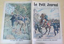 Le petit journal 1913 n°1171 attentat contre le roi d'espagne fete des oiseaux