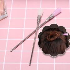 Chinese classic women hairpin hair accessories white jade retro stick 165mm.kn