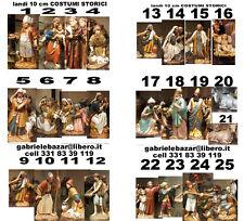 20 PASTORI LANDI 10 CM costumi storici shepherds crib  crèche bergers