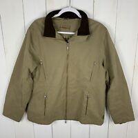 Barbour Womens Beige Size US 12 Zip Up Lightweight Multi Pocket Barn Jacket