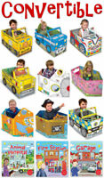 Boys & Girls Convertible Book Toy Set 3-6 Years Pirate Ship, Race Car, Spaceship