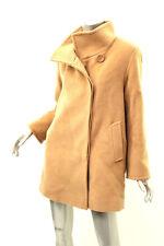 CINZIA ROCCA Camel Fleece Wool Button Up Coat 6 $995