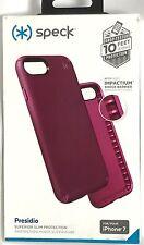 Speck - Presidio Superior Slim Case for iPhone 7 - Syrah Purple/Magenta Pink