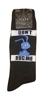 New Disney Mens A BUG'S LIFE Crew Socks WITH FLIK Says 'DON'T BUG ME