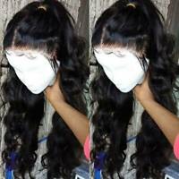 Loose Wave Full Lace Wigs Lace Front Malaysian Virgin Human Hair Wig Baby Hair @