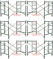 SIX SET OF New  5' X 5' X 7' Masonry Scaffolding Frame Set CBMscaffoldcom