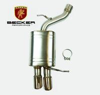 Becker Dual Exit Axleback For 2003-2010 BMW 525i 528i 530i 2.5L / 3.0L (1pc)