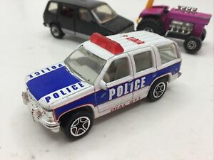 VINTAGE 1986 MATCHBOX SUPERFAST WHITE POLICE 911 CHEVY TAHOE UNIT 4 CHINA