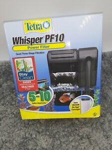 WHISPER PF10 Aquarium Filter 3-Stage for 5-10 Gallon Tanks  Betta Goldfish New