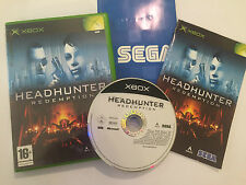 ORIGINAL XBOX GAME HEADHUNTER REDEMPTION +BOX INSTRUCTIONS COMPLETE PAL
