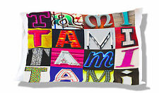 Personalized Pillowcase featuring TAMI in photos of actual sign letters