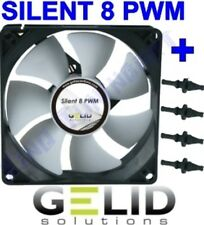 VENTOLA CASE PC 80mm GELID SILENT 8 PWM FAN 80 4 PIN +4